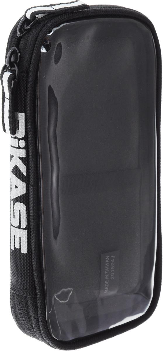Чехол для смартфона на руль BiKase Handy Andy 5, водонепроницаемый, 16 х 8,5 х 3 смPN1004Водонепроницаемый чехол BiKase Handy Andy 5 позволяет носить с собой смартфон на велосипедных прогулках. Устанавливается на руль при помощи двух съемных ремней на липучке. Чехол выполнен из прочного неопрена, который защитит смартфон от ударов и сотрясений. Изделие закрывается на застежку-молнию двумя бегунками и украшено светоотражающим логотипом. Такой чехол подходит для большинства телефонов размером 5 (Samsung Galaxy 3 и меньше, в том числе для iPhone 4, 5, 6).