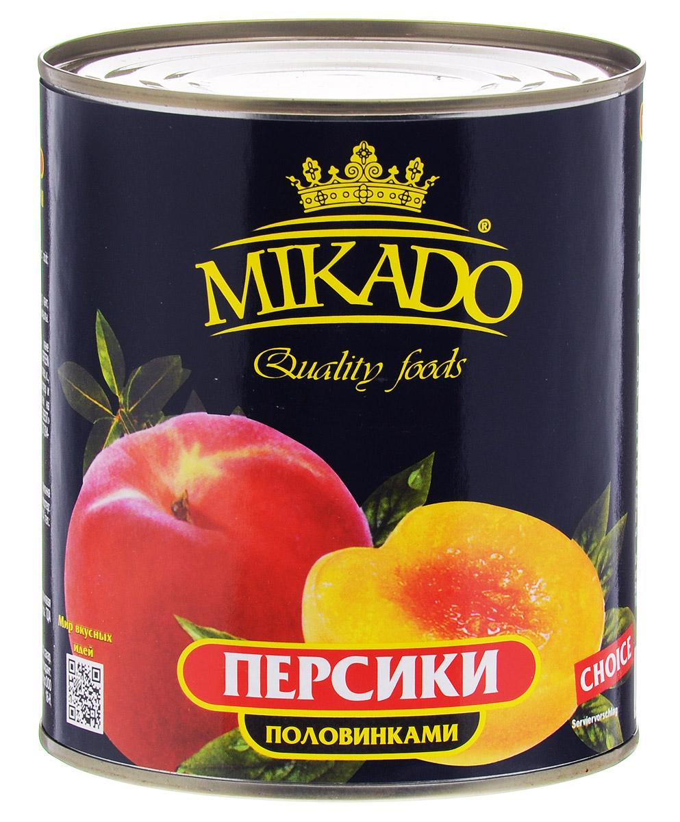 Mikado персики половинками в сиропе, 425 мл4007415005541Половинки персиков от Mikado в сахарном сиропе безусловно станут вкусным и полезным лакомством для вас и ваших детей.
