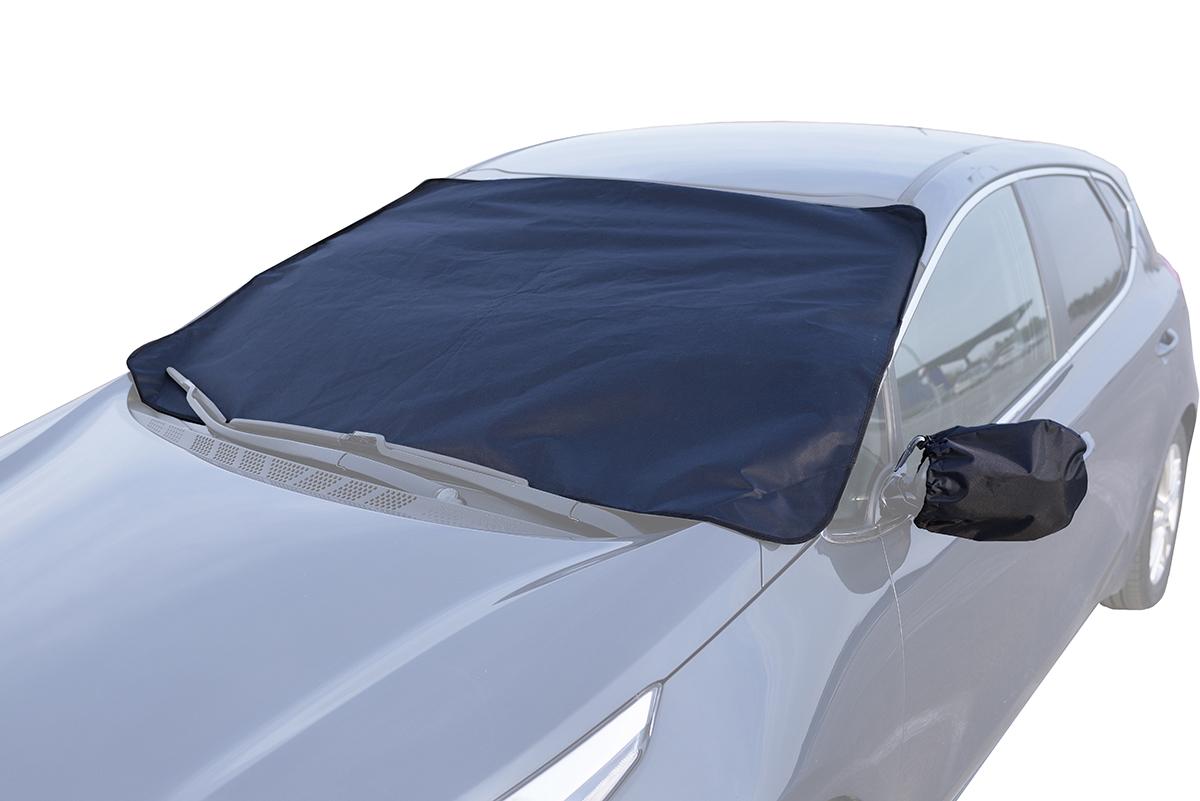 Защитный экран AvtoTink для лобового стекла + чехлы для боковых зеркал75002Защитный экран от наледи на лобовое стекло No Frost защищает лобовое стекло от налипания снега и образования ледяной корки во время стоянки автомобиля. Преимущества: - универсальный размер и способ крепления - оснащен объемными клапанами, которые фиксируются дверями автомобиля - также экран крепится магнитами к металлическим частям кузова, что дает полное прилегание экрана к лобовому стеклу, защиту от воздействия ветра - экономия времени - не нужно удалять ледяную корку (скребком, прогреванием, авто-химией) - экономия топлива (за счет сокращения времени прогрева автомобиля) - продлевает срок службы лобового стекла - защита щеток стеклоочистителя от примерзания и дополнительного износа