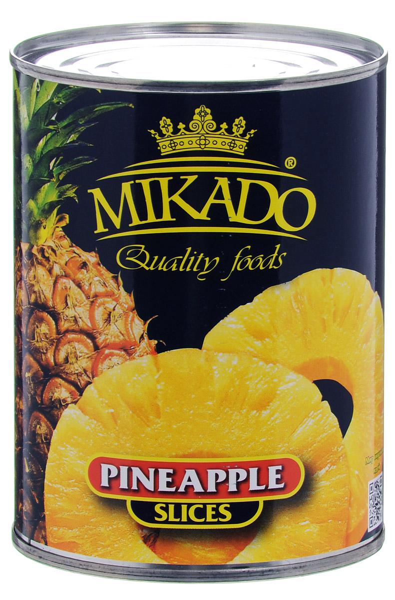Mikado ананас кольцами в сиропе, 580 мл
