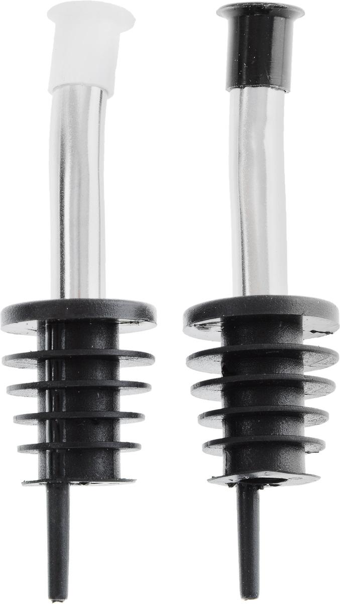 Насадки-дозаторы для бутылок Fackelmann, 2 шт49548Насадки-дозаторы для бутылки Fackelmann выполнены из полипропилена и стали. Изделия оснащены удобными носиками для розлива, которые плотно закрываются колпачками. Насадки можно прикрепить к горлышку бутылки подсолнечного масла или бутылок с алкоголем. Хранить бутылки можно с насадками. С такими насадками дозировать жидкость станет намного удобнее. Длина насадки: 10 см. Комплектация: 2 шт.