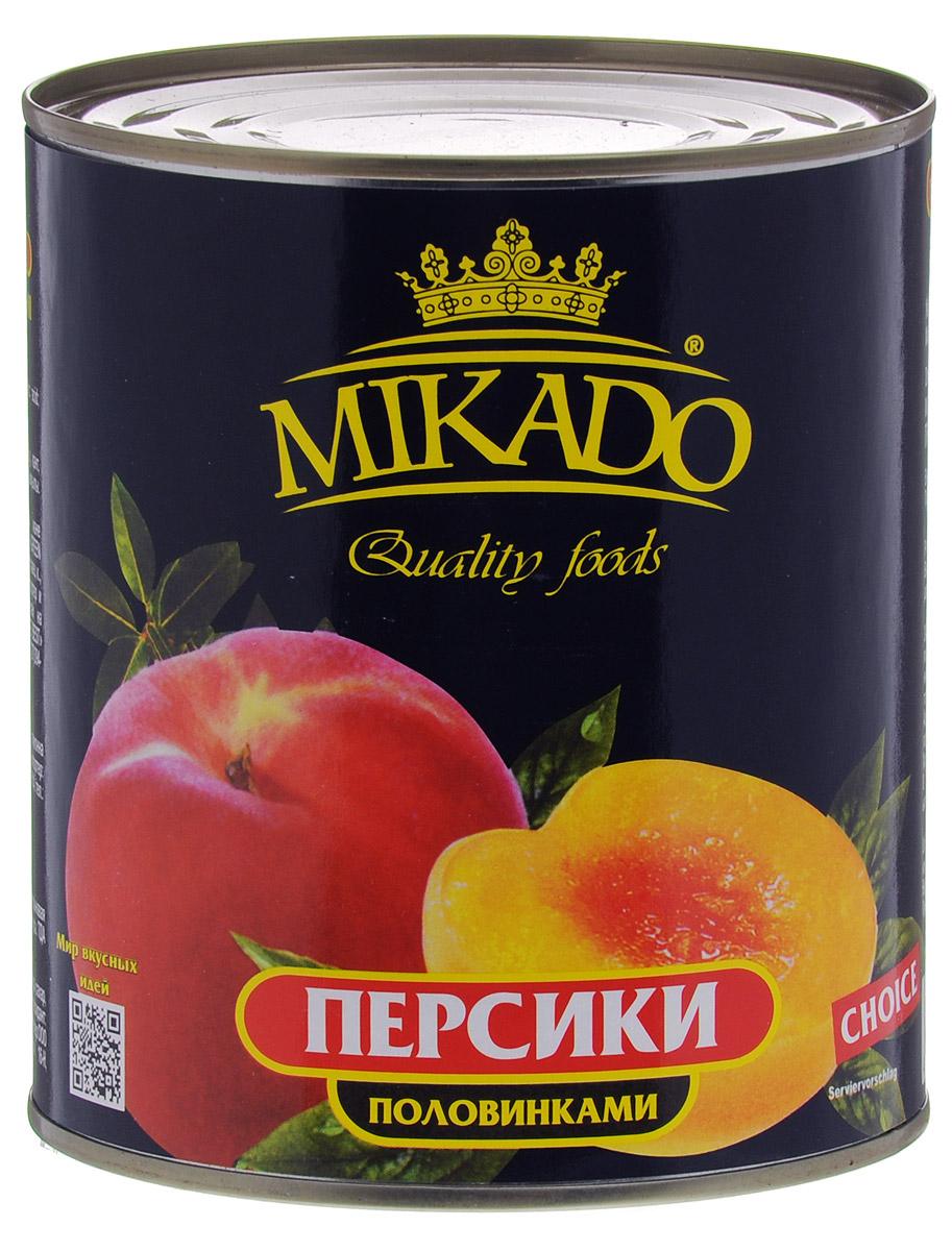 Mikado персики половинками в сиропе, 850 мл4007415005Половинки персиков в сахарном сиропе от Mikado станут вкусным и полезным лакомством для всей семьи.