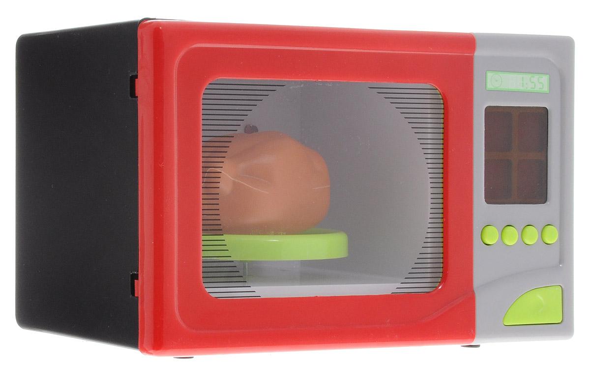 ABtoys Микроволновая печь цвет красный черный серый PT-00345