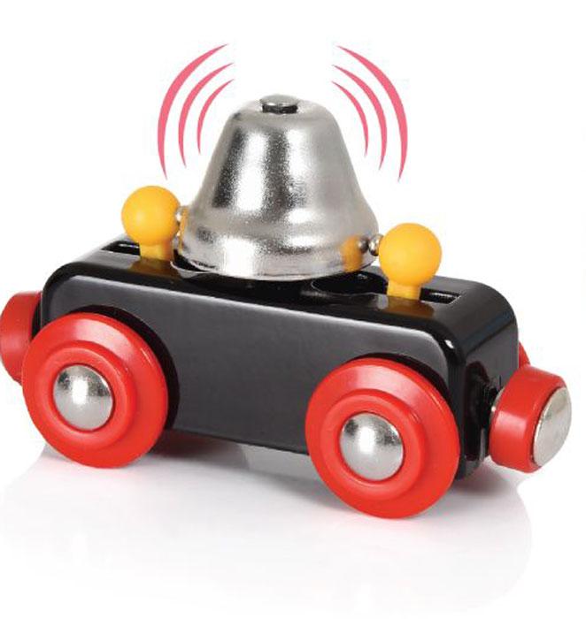 Brio Вагон с сигнальным колокольчиком33749BRIO вагончик с сигнал.колокольчиком,звон при движ.,8х4х5см,кор.