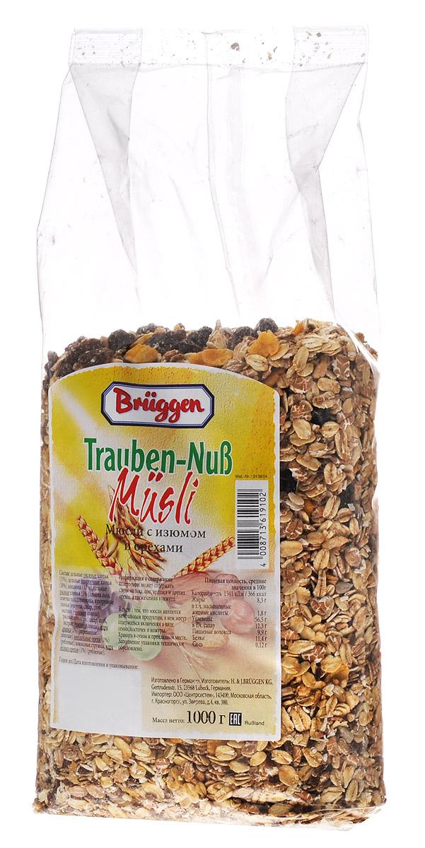 Bruggen мюсли с изюмом и орехами, 1 кг