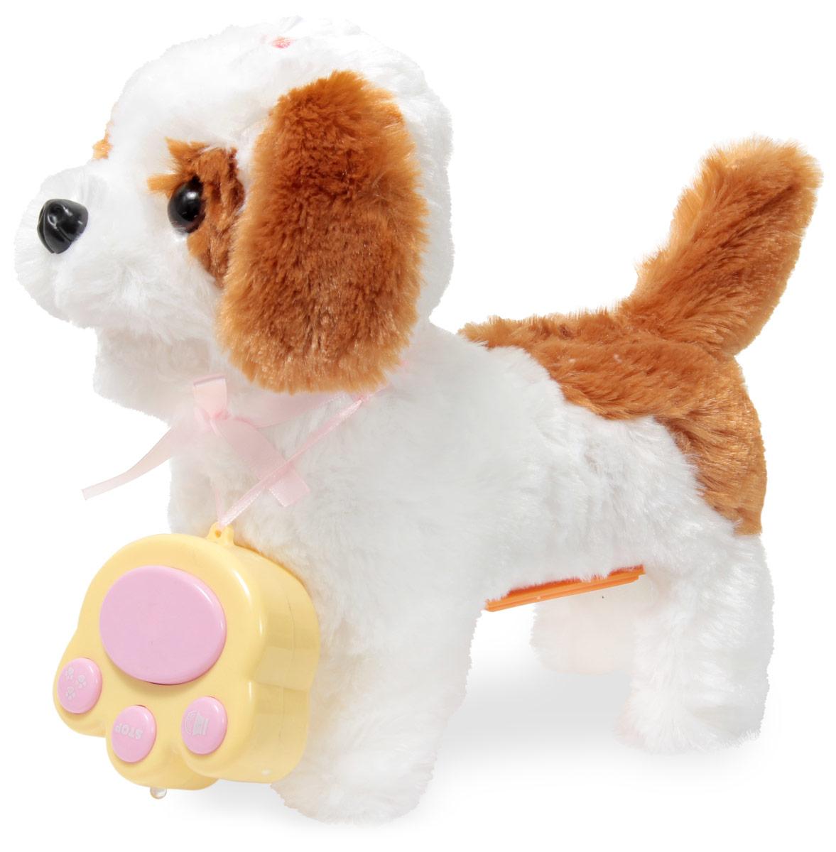 LAPA House Мягкая игрушка Собака АдельJX-1514Интерактивный щенок Адель, управляется с помощью пульт, ходит вперед, останавливается, лает и виляет хвостиком, совсем как настоящая собака. Если с собачкой не играть некоторое время, она отключается автоматически, чтобы включить игрушку нажмите на кнопку на голове. Адель станет лучшим другом вашему малышу.