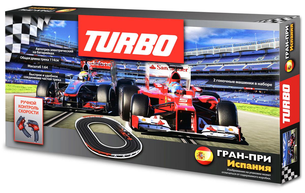 Turbo Игрушечный трекJJ16-1Автотреки отлично развивают творческие и инженерные способности ребенка, и просто являются прекрасным поводом собраться всей семьей и устроить увлекательные гонки. Автотреки серии TURBO - это, прежде всего, высокое качество самой трассы и машинок, они являются отличной игрушкой, позволяющей устраивать настоящие соревнования. Разнообразные мертвые петли, трамплины, спуски и подъемы, а также резкие повороты привносят в игру дополнительный азарт. Прекрасный вариант семейной игрушки, позволяющей устраивать настоящие соревнования! Развивает у детей внимание, быстроту реакции и творческие способности. работает от 8хАА батареек (в комплект не входят)