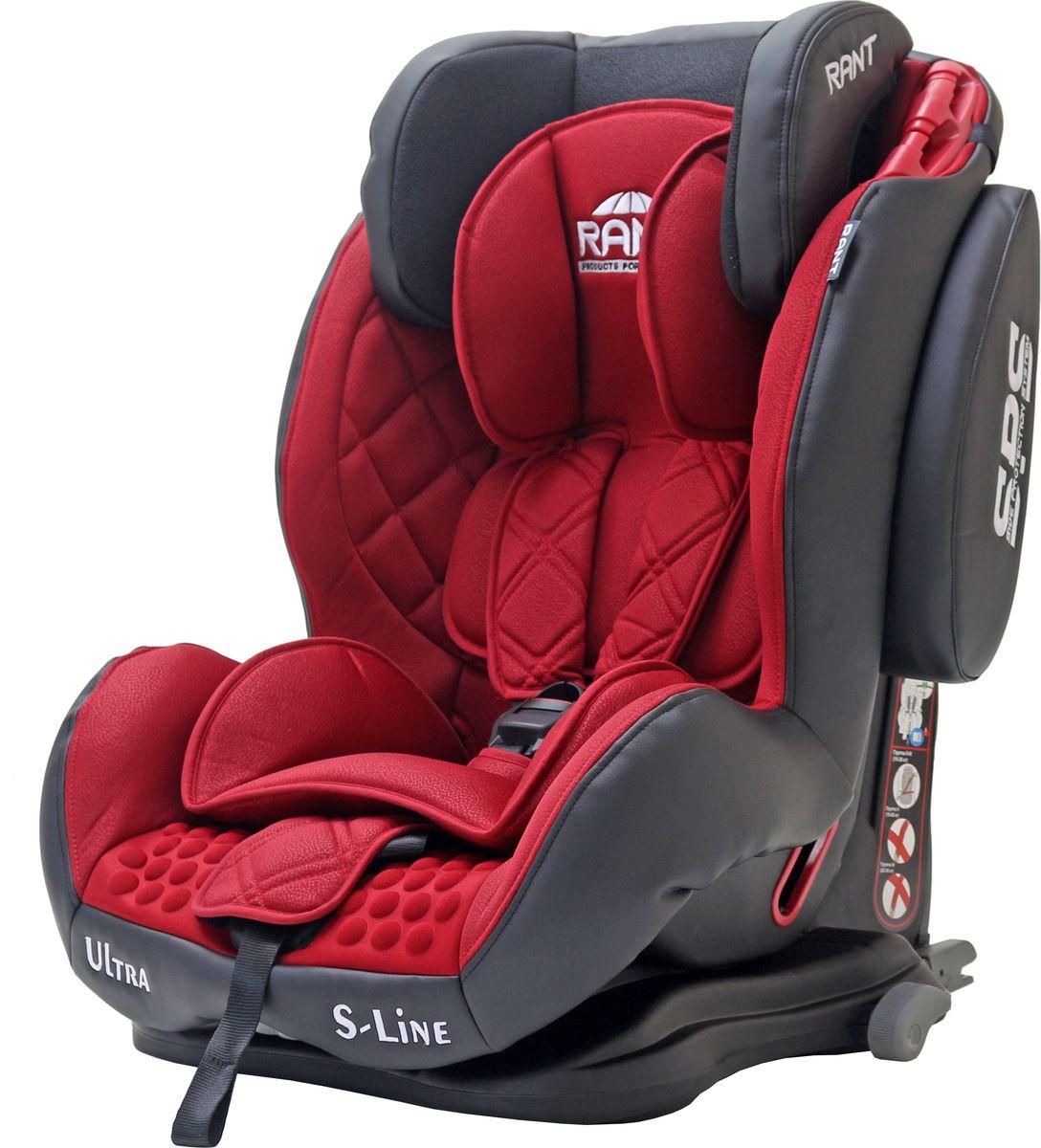 Rant Автокресло Ultra Isofix цвет красный от 9 до 36 кг 4650070980625