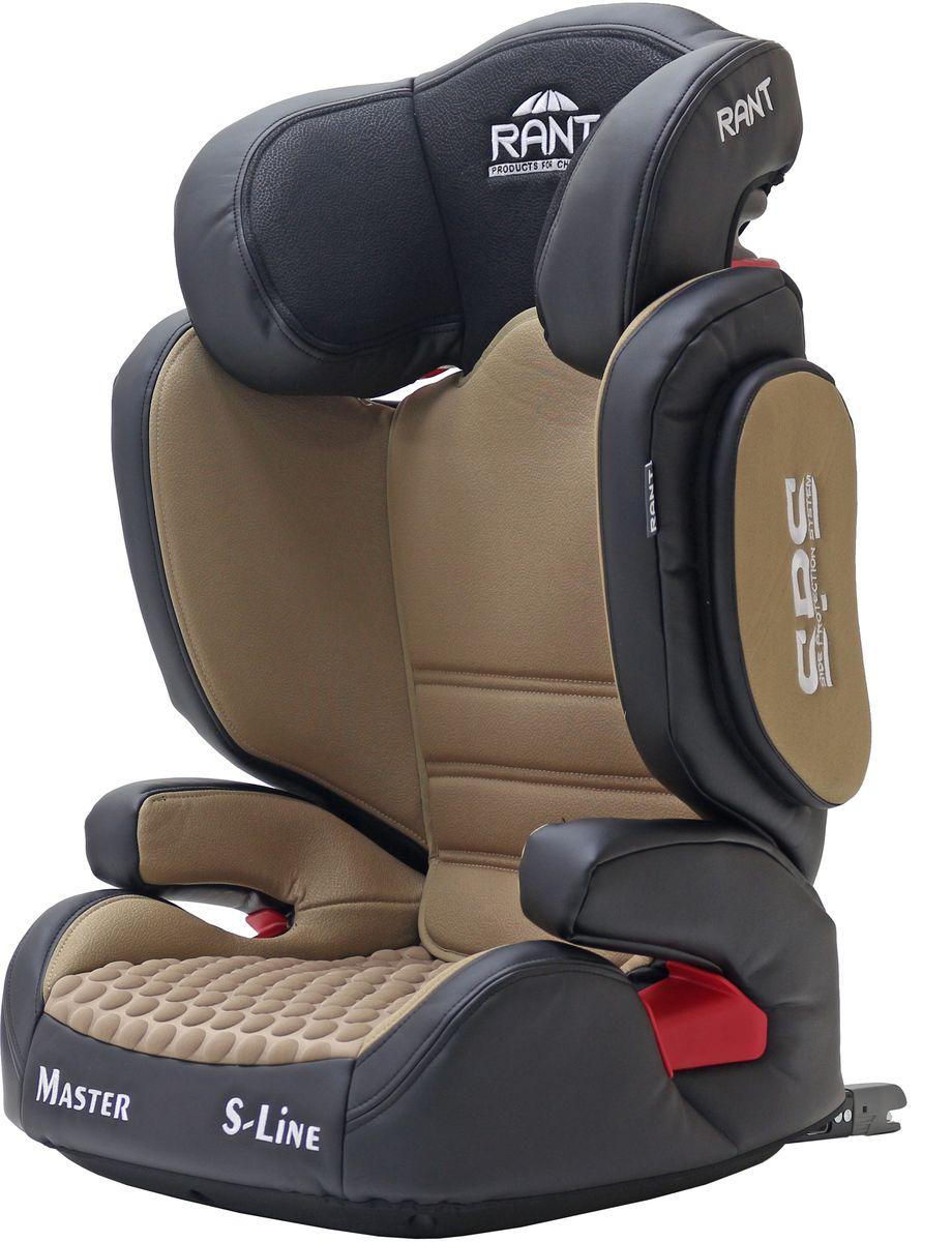 Rant Автокресло Master цвет кофейный от 15 до 36 кг4650070980649Серия S-Line автокресло Master isofix группа 2-3. Вес ребенка: 15-36 кг, возраст: от 3 до 12 лет (ориентировочно), крепится штатными ремнями безопасности автомобиля, устанавливается по ходу движения автомобиля, 2-х ступенчатая настройка высоты подголовника и ширины плечевой зоны, фиксатор высоты штатных ремней безопасности, дополнительная боковая защита, трансформируется в бустер, съемный чехол, сертификат Европейского Стандарта Безопасности ЕCE R44/04.