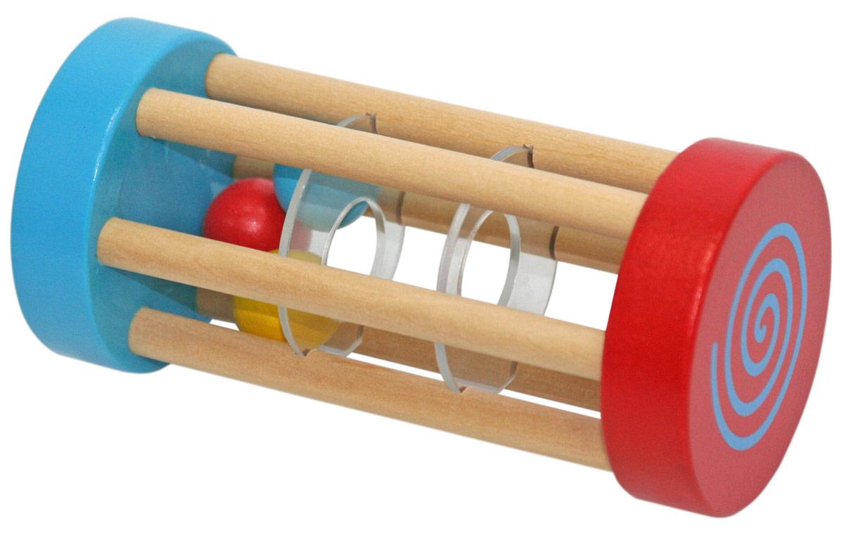 Фабрика Фантазий Погремушка Погремушка-катушкаWD1096Погремушка-катушка изготовлена из экологически чистого и долговечного материала - дерева, игрушка очень качественно обработана, не имеет острых углов, сколов и зазубрин. Внутри поремушки находятся маленькие разноцветные шарики, а благодаря маленькому размеру, погремушка идеально подходит для маленьких ручек. Игрушка способствует развитию координации движений, мелкой моторики рук, творческих способностей, воображения и музыкального восприятия.