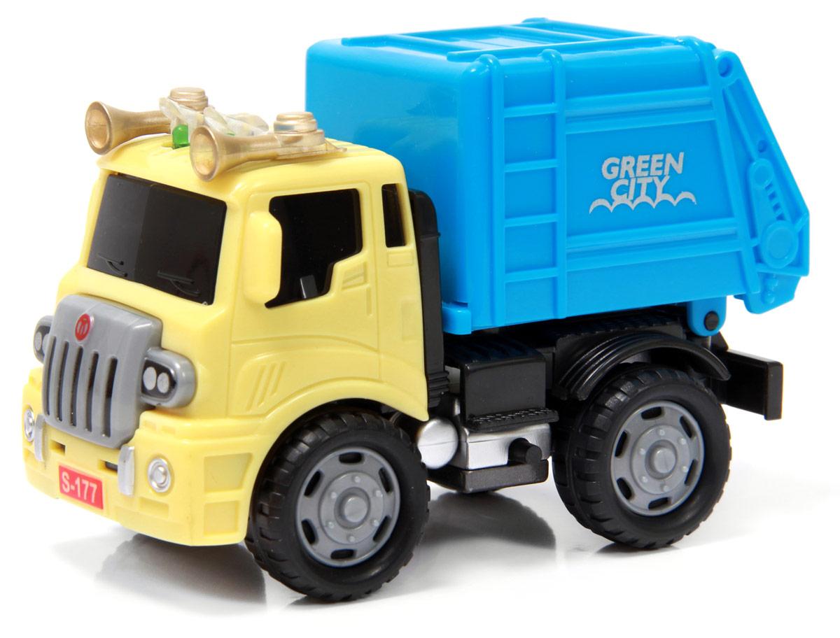 Driver Мусоровоз8498Эксклюзивная строительная техника ТМ Driver - это уникальные машинки с металлической кабиной, копии настоящей техники, выполненные в масштабе 1:60, со световыми и звуковыми эффектами. Абсолютно у всех грузовичков есть подвижные детали, что немаловажно для маленького исследователя взрослого мира! Кузов мусоровоза откидывается. Интересный функционал, яркие цвета и превосходное качество - еще не все преимущества спецтехники ТМ Driver. Широкий модельный ряд серии - прекрасная возможность собрать полную коллекцию чудо техники!