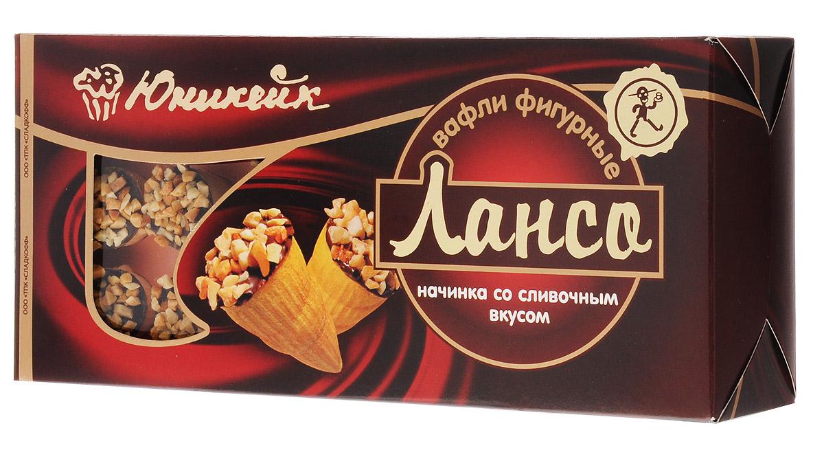 Юникейк Лансо вафли фигурные со сливочной начинкой, 170 г4607105138131Вкусные, нежные, ароматные с приятной сливочно-арахисовой начинкой и хрустящей корочкой вафли Лансо - это всегда начало прекрасного дня