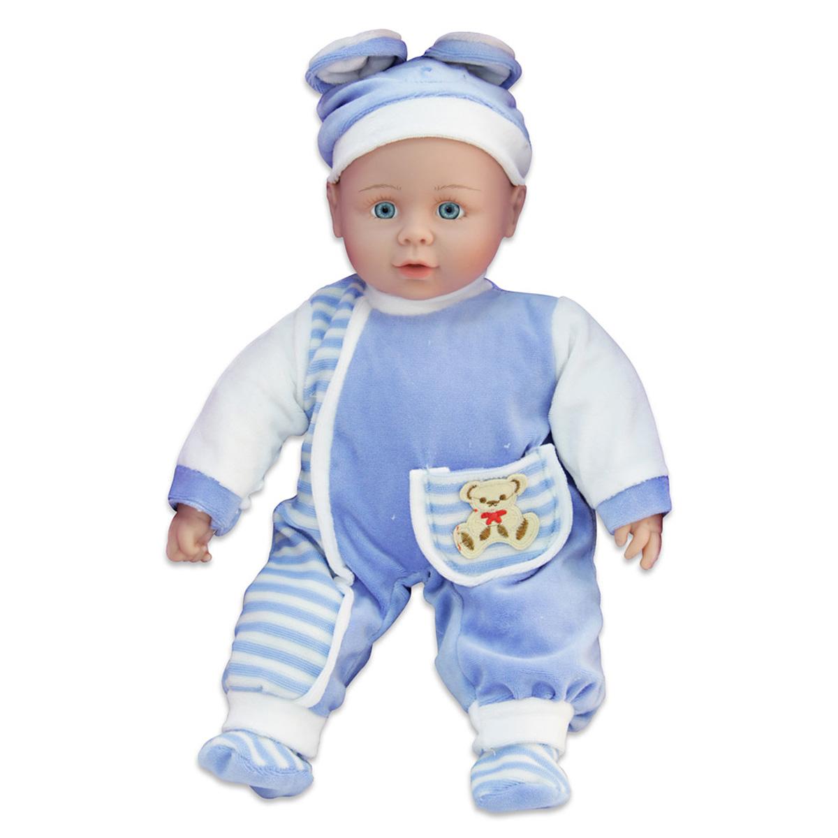 Lisa Jane Пупс озвученный в голубом нарядеUT-J1646Очень интересная и красивая куколка Lisa Jane сможет удивить и обрадовать Вашу малышку! Выглядит куколка очень реалистично, у неё очаровательный взгляд, милое и трогательное личико, пухлые щёчки и приоткрытый ротик. Куколка одета в голубой комбинезон и шапочку зайчика. Кукла-зайка обладает массой интересных функциональных особенностей, с которыми игра приобретёт наполненность. Стоит нажать на правую или левую ручку - и куколка начнёт петь песенку или читать стихи, или просто произносить фразы. Свою куклу маленькая мама сможет смело и с удовольствием обнимать, она мягконабивная, просто располагает к нежным объятьям! Для работы звуковых эффектов требуются 3 батарейки типа АА, в комплект не входят.