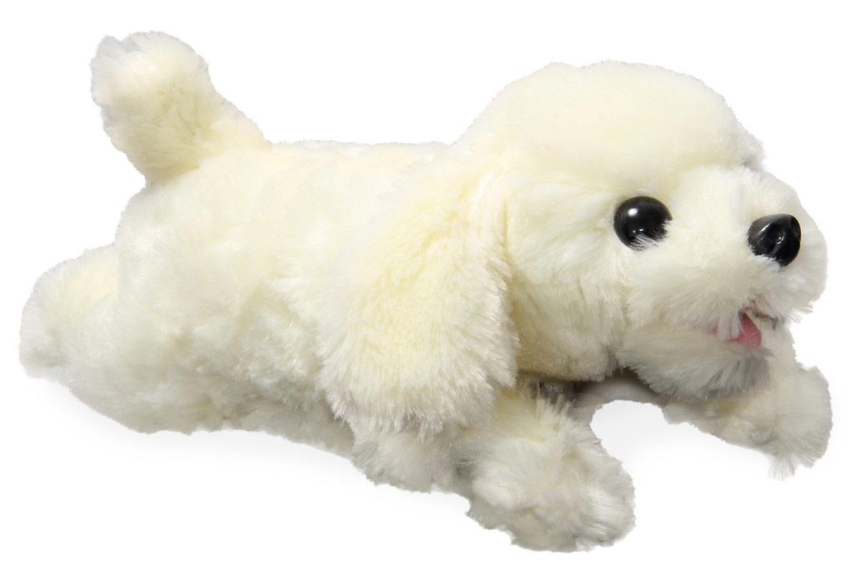 LAPA House Мягкая игрушка Собака НайдаJX-503Интерактивный щенок Найда реагирует на прикосновения, двигает головой, лает, скулит, чихает, виляет хвостом, работает от 3хАА батареек