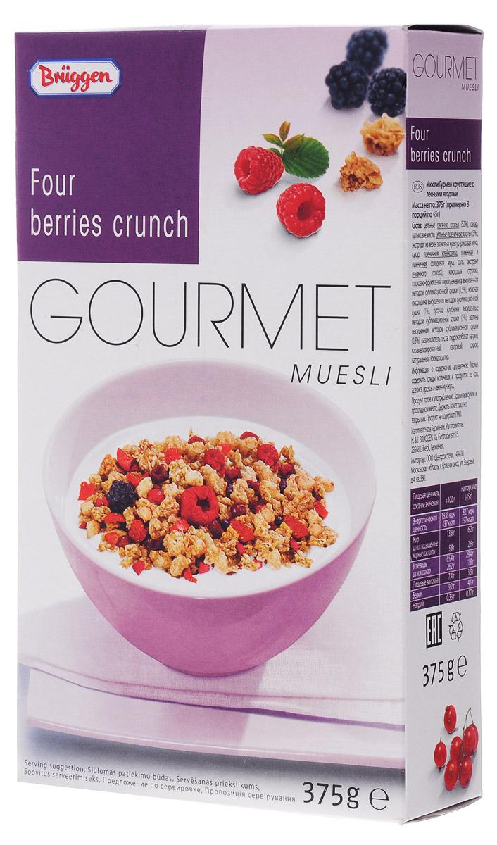 Gourmet мюсли с лесными ягодами хрустящие, 375 г