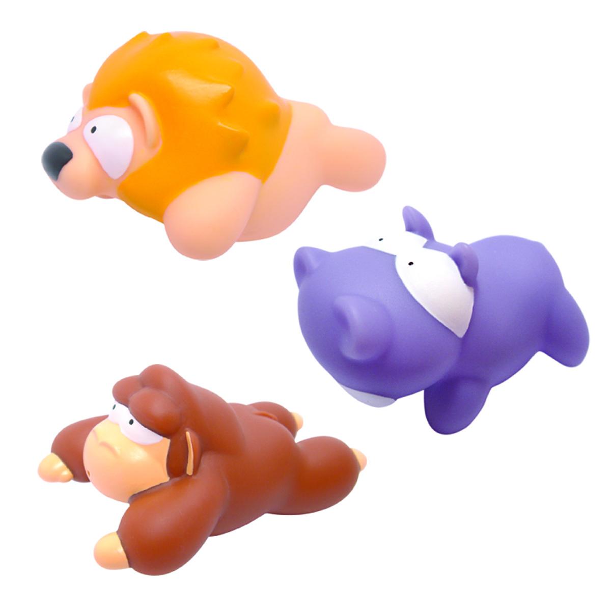 Mara Baby Набор игрушек для ванной Джунгли 3 шт24007С набором игрушек для ванной Mara Baby Джунгли принимать водные процедуры станет еще веселее и приятнее. В набор входят три игрушки - лев, обезьяна и бегемот. Игрушки могут брызгать водой. Набор доставит ребенку большое удовольствие и поможет преодолеть страх перед купанием. Игрушки для ванной способствуют развитию воображения, цветового восприятия, тактильных ощущений и мелкой моторики рук.
