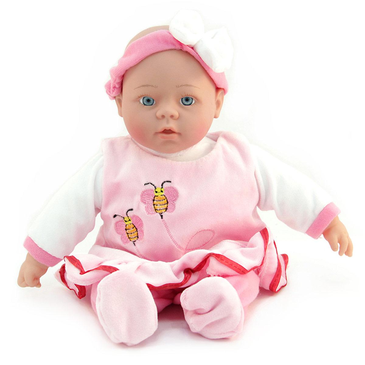 Lisa Jane Пупс озвученный в розовом платьеUT-J1660Кукла интерактивная: говорит (более 50 фраз), рассказывает 2 стихотворения, поет песенку про маму. Любимая колыбельная мелодия. Нажми на ручку! Для куклы требуются 3 батарейки типа АА, в состав набора не входят.