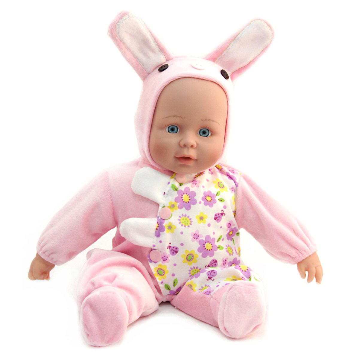 Lisa Jane Пупс озвученный в розовом комбинезонеUT-J1661Кукла интерактивная: говорит (более 50 фраз), рассказывает 2 стихотворения, поет песенку про маму. Любимая колыбельная мелодия. Нажми на ручку! Для куклы требуются 3 батарейки типа АА, в состав набора на входят.