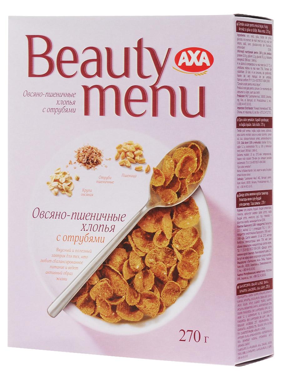 AXA Beauty menu хлопья овсяно-пшеничные с отрубями, 270 г