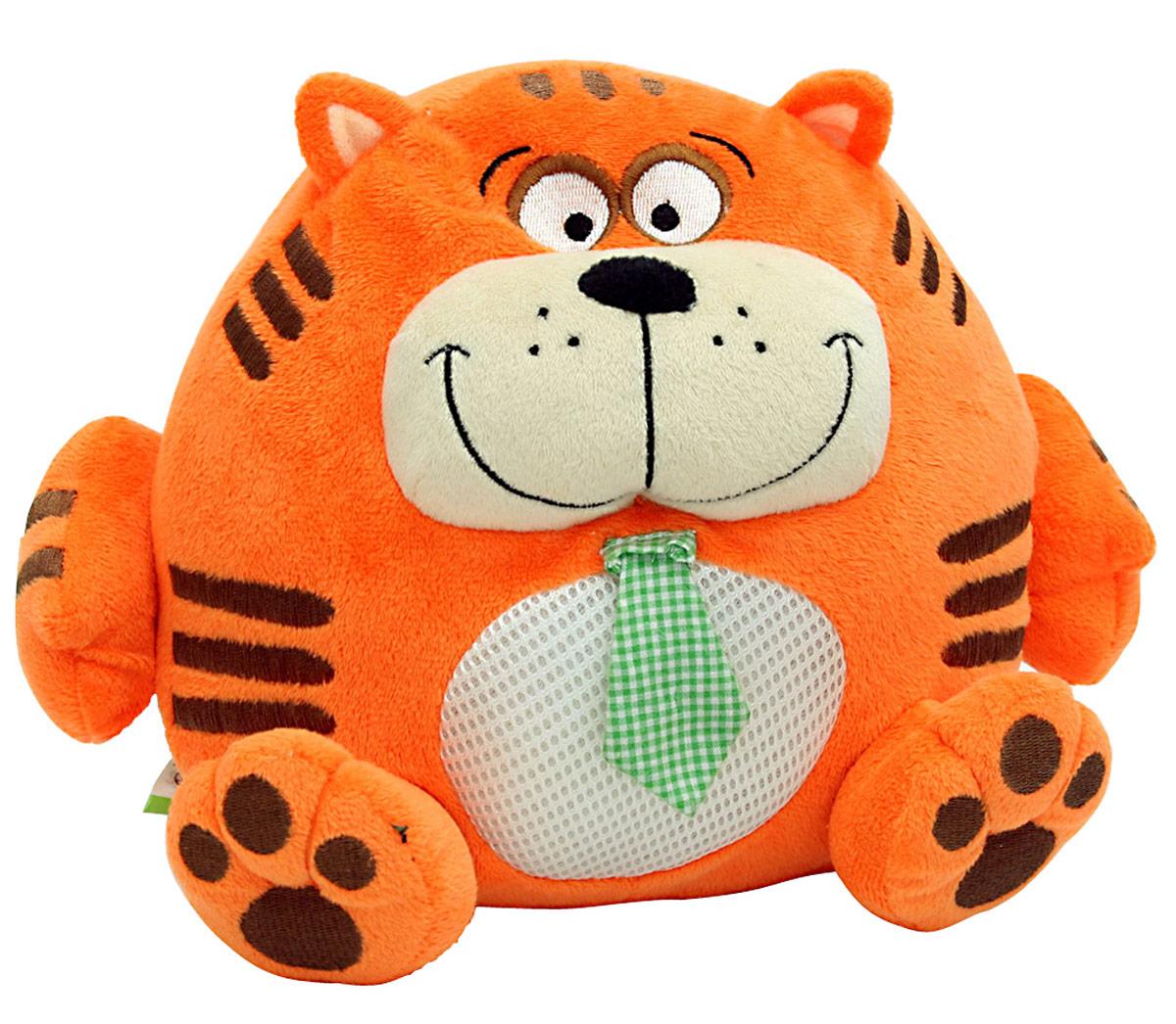 LAPA House Мягкая игрушка Кот24447Забавный и очень веселый зверек привлечет внимание ребенка и станет ему добрым другом. Он так весело хохочет и трясется, что невозможно остаться равнодушным и не рассмеяться вместе с ним! Популярные, любимые образы - кот, собака, медведь и енот, - понравятся и малышам, и их родителям. Описание: -кнопка включения на левой лапе игрушки - двигается с вибрацией - звуковые эффекты(хохочет) - отключение через 15 сек, после нажатия кнопки - работает от 3хАА батареек (в комплект не входят)