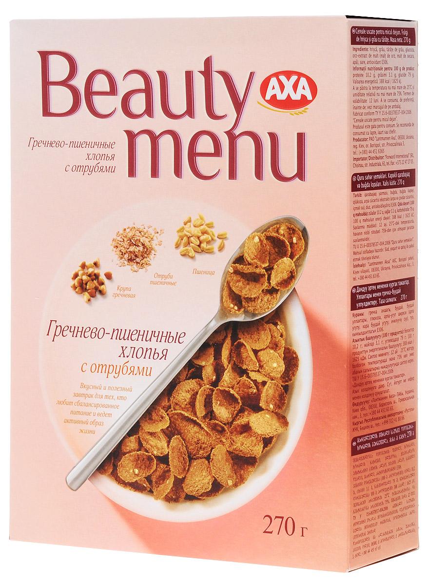АХА AXA Beauty menu хлопья гречнево-пшеничные с отрубями, 270 г бйт012