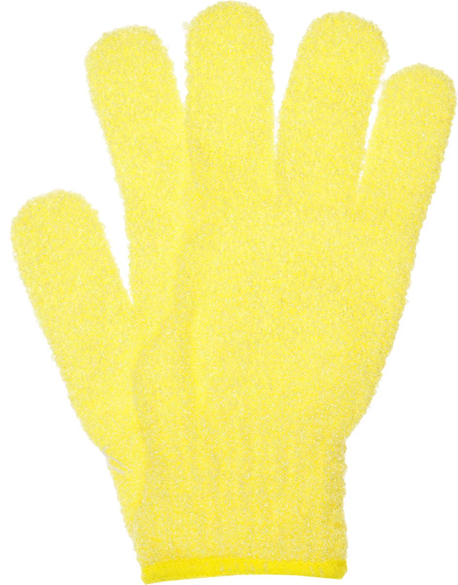 Мочалка-рукавица для тела Fun Fresh Талия, массажная, цвет: желтый1.16_желтый