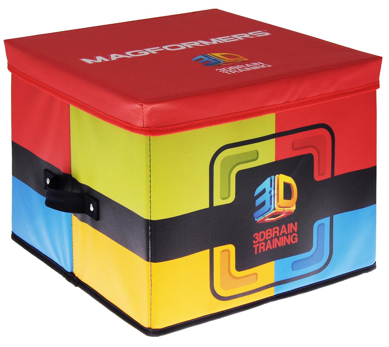 Magformers Коробка для хранения конструктора60100Вы не знаете, где хранить ваш любимый конструктор? Коробка для хранения конструктора Magformers - отличное решение! Коробка имеет два отсека для хранения различных деталей конструктора и карман для книги идей, тематических карт или фотографий ваших построек. Корпус так прочен, что может послужить даже детским стульчиком. Коробка позволит сохранить конструктор и не потерять элементы, а также защитить их от пыли, грязи и влаги. Удобно складывается, что делает его очень компактным при хранении.