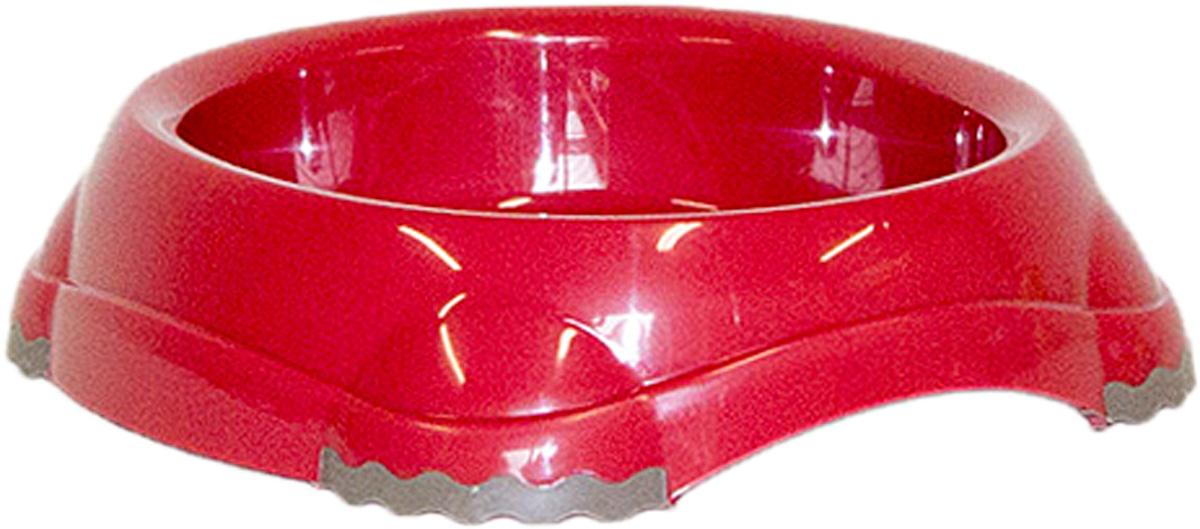 Миска Moderna Smarty bowl, с антискольжением, цвет: бордовый, 12х3 см14H100202