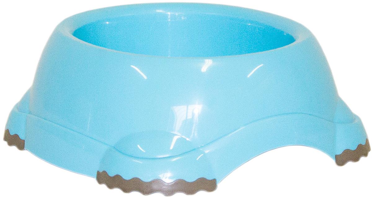 Миска Moderna Smarty bowl, с антискольжением, цвет: голубой, 16х7 см14H102181