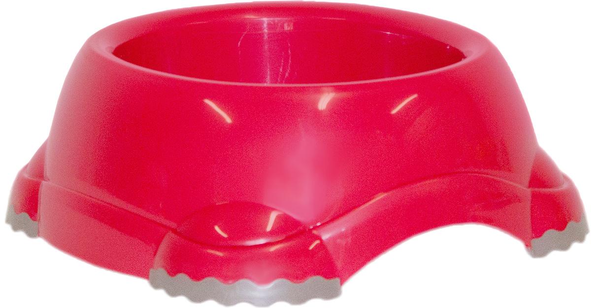 Миска Moderna Smarty bowl, с антискольжением, цвет: бордовый, 16х7 см14H102202