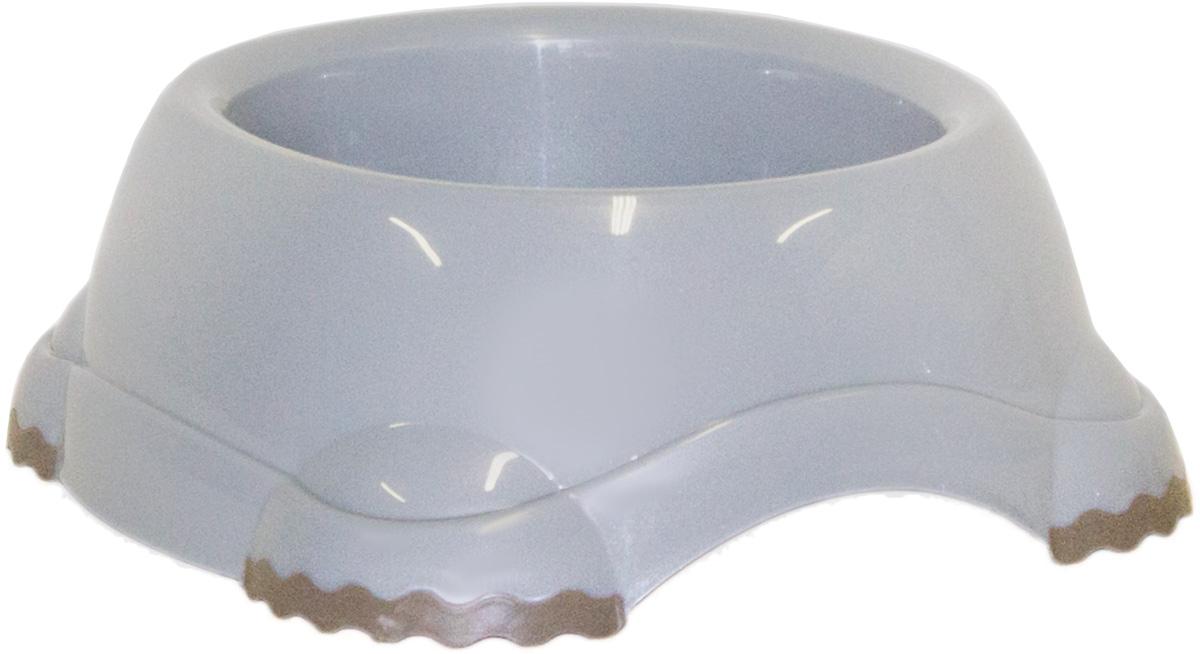 Миска Moderna Smarty bowl, с антискольжением, цвет: серый, 19 х 7 см14H103026Миска для корма и воды из полированного пластика. Ножки миски имеют резиновые накладки для предотвращения скольжения по полу. Качественный пластик не гнется, не ломается, не впитывает запахи, миска легко моется, имеет длительных срок эксплуатации. Стильный дизайн, широкая цветовая гамма. Специально разработанная конструкция для удобства Вашего питомца. Характеристики: Размер миски: 24 х 21 х 9 см; Глубина миски: 7 см; Цвет: серый.