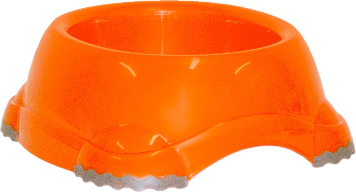 Миска Moderna Smarty bowl, с антискольжением, цвет: оранжевый, 19 х 7 см14H103148Миска для корма и воды из полированного пластика. Ножки миски имеют резиновые накладки для предотвращения скольжения по полу. Качественный пластик не гнется, не ломается, не впитывает запахи, миска легко моется, имеет длительных срок эксплуатации. Стильный дизайн, широкая цветовая гамма. Специально разработанная конструкция для удобства Вашего питомца. Характеристики: Размер миски: 24 х 21 х 9 см; Глубина миски: 7 см; Цвет: оранжевый.
