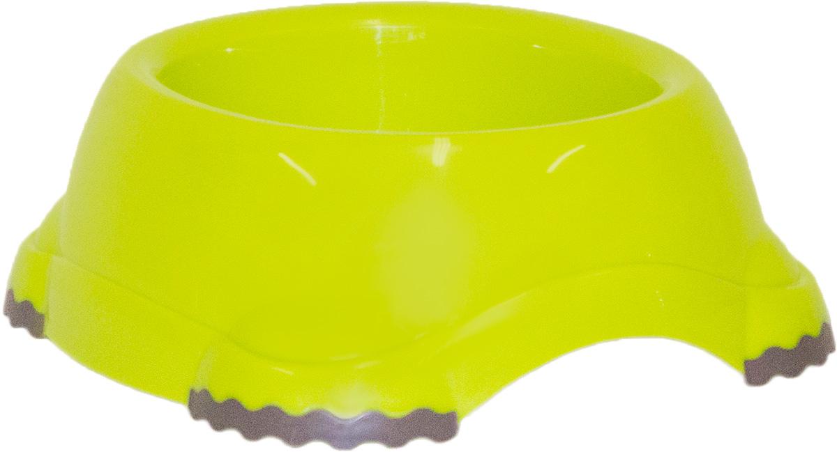 Миска Moderna Smarty bowl, с антискольжением, цвет: зеленый, 19 х 7 см14H103173Миска для корма и воды из полированного пластика. Ножки миски имеют резиновые накладки для предотвращения скольжения по полу. Качественный пластик не гнется, не ломается, не впитывает запахи, миска легко моется, имеет длительных срок эксплуатации. Стильный дизайн, широкая цветовая гамма. Специально разработанная конструкция для удобства Вашего питомца. Характеристики: Размер миски: 24 х 21 х 9 см; Глубина миски: 7 см; Цвет: зеленый.
