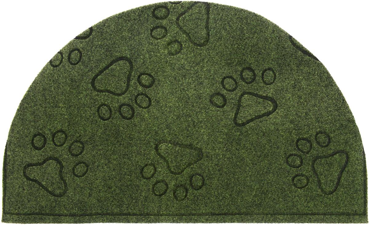 Коврик придверный EFCO Оскар.лапы, цвет: зеленый, 65 х 40 см10984_зеленый