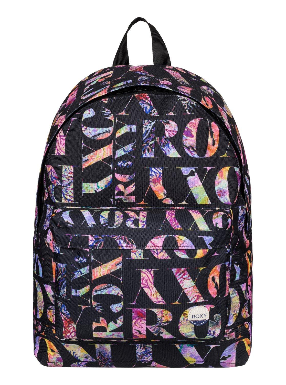 Рюкзак городской женский Roxy Be Young, цвет: черный, мульти, 24 л. ERJBP03266-KVJ7ERJBP03266-KVJ7