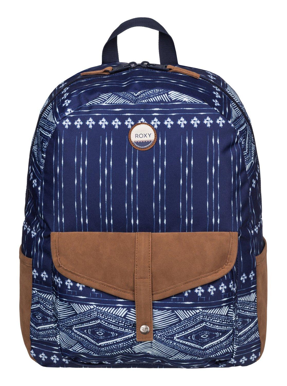 Рюкзак городской женский Roxy Carribean, цвет: синий, коричневый, 18 л. ERJBP03269-BSQ6ERJBP03269-BSQ6