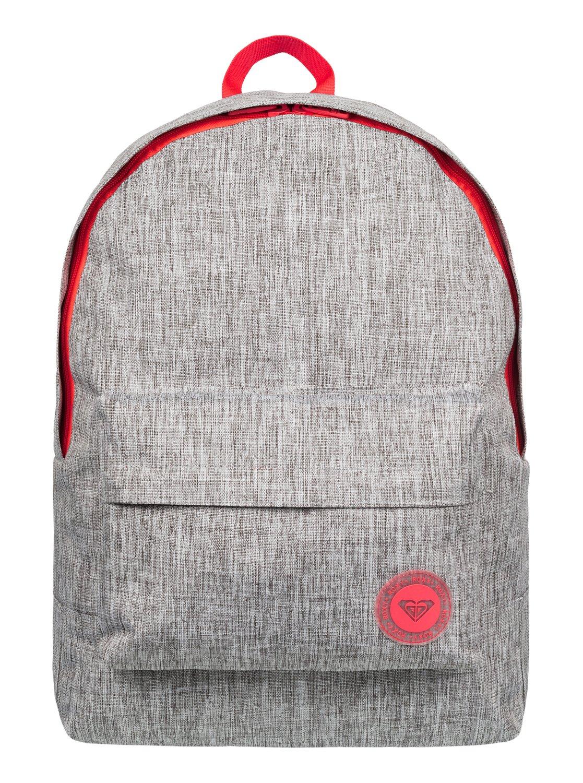 Рюкзак городской женский Roxy Sugar Baby Solid, цвет: серый, 16 л. ERJBP03262-SGRHERJBP03262-SGRH
