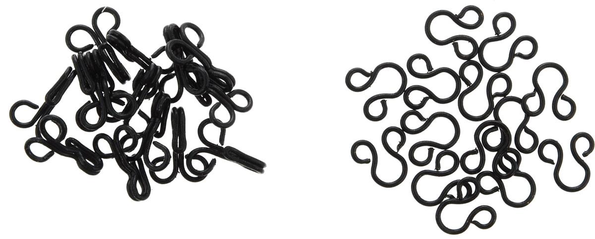 Крючки и петли Pony, цвет: черный, 11 мм, 14 пар78253Крючки и петли Pony выполнены из стали. Пришивные, используются для верхней одежды. В комплекте - 14 пар крючков и петель. Длина крючка: 11 мм. Размер: №2.