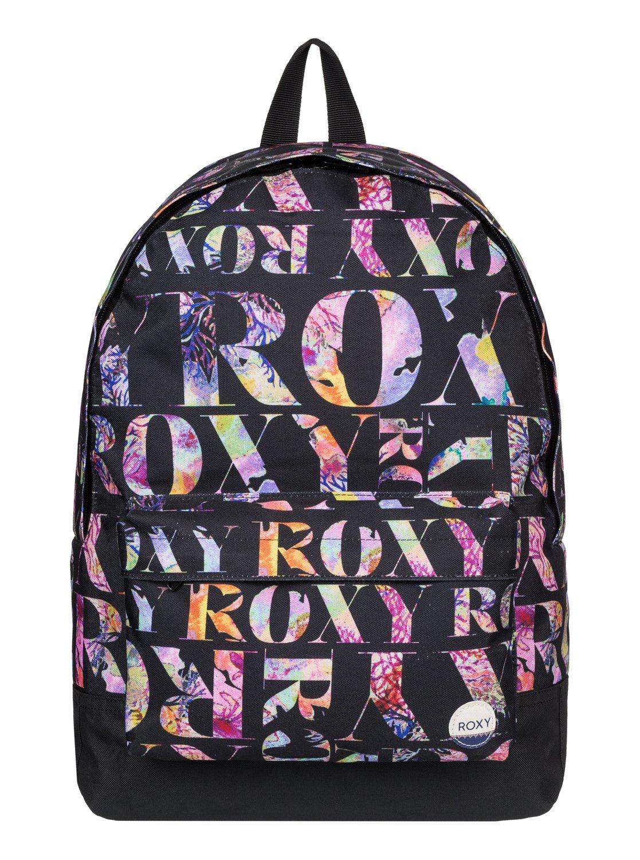 Рюкзак городской женский Roxy Sugar Baby, цвет: черный, мульти, 16 л. ERJBP03264-KVJ7ERJBP03264-KVJ7