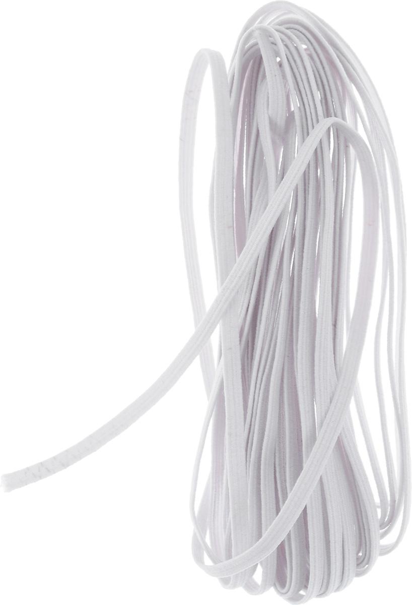 Резинка бельевая Pony, цвет: белый, 0,3 х 500 см53101Резинка бельевая Pony - это плоская эластичная лента, которая производится из латексных нитей в оплетке из полиэфирных волокон. Резинка хорошо тянется, используется при пошиве одежды.
