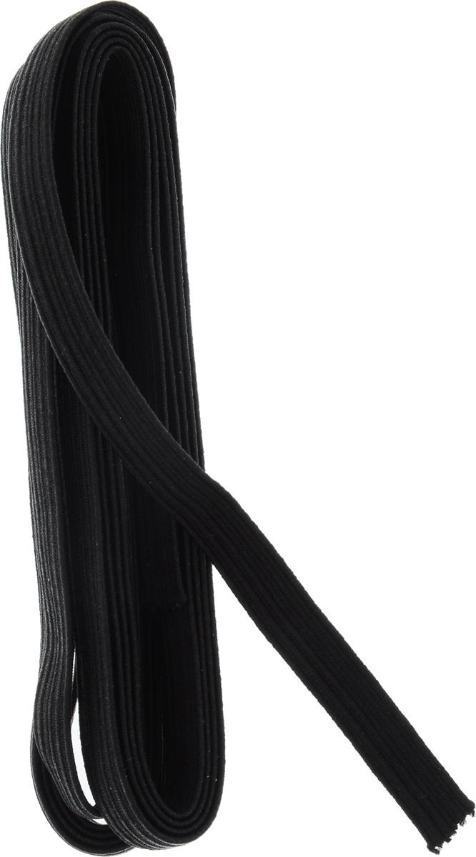 Резинка бельевая Pony, цвет: черный, 0,9 х 200 см53106Резинка бельевая Pony - это плоская эластичная лента, которая производится из латексных нитей в оплетке из полиэфирных волокон. Резинка хорошо тянется, используется при пошиве одежды.