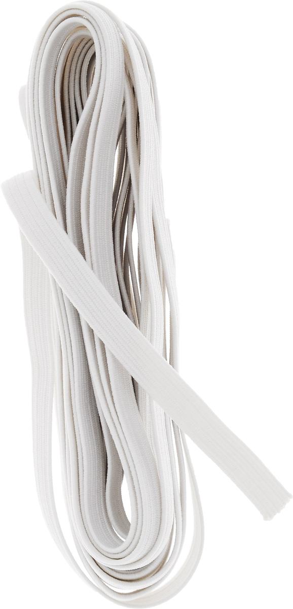 Резинка бельевая Pony, цвет: белый, 0,6 х 500 см53103Резинка бельевая Pony - это плоская эластичная лента, которая производится из латексных нитей в оплетке из полиэфирных волокон. Резинка хорошо тянется, используется при пошиве одежды.