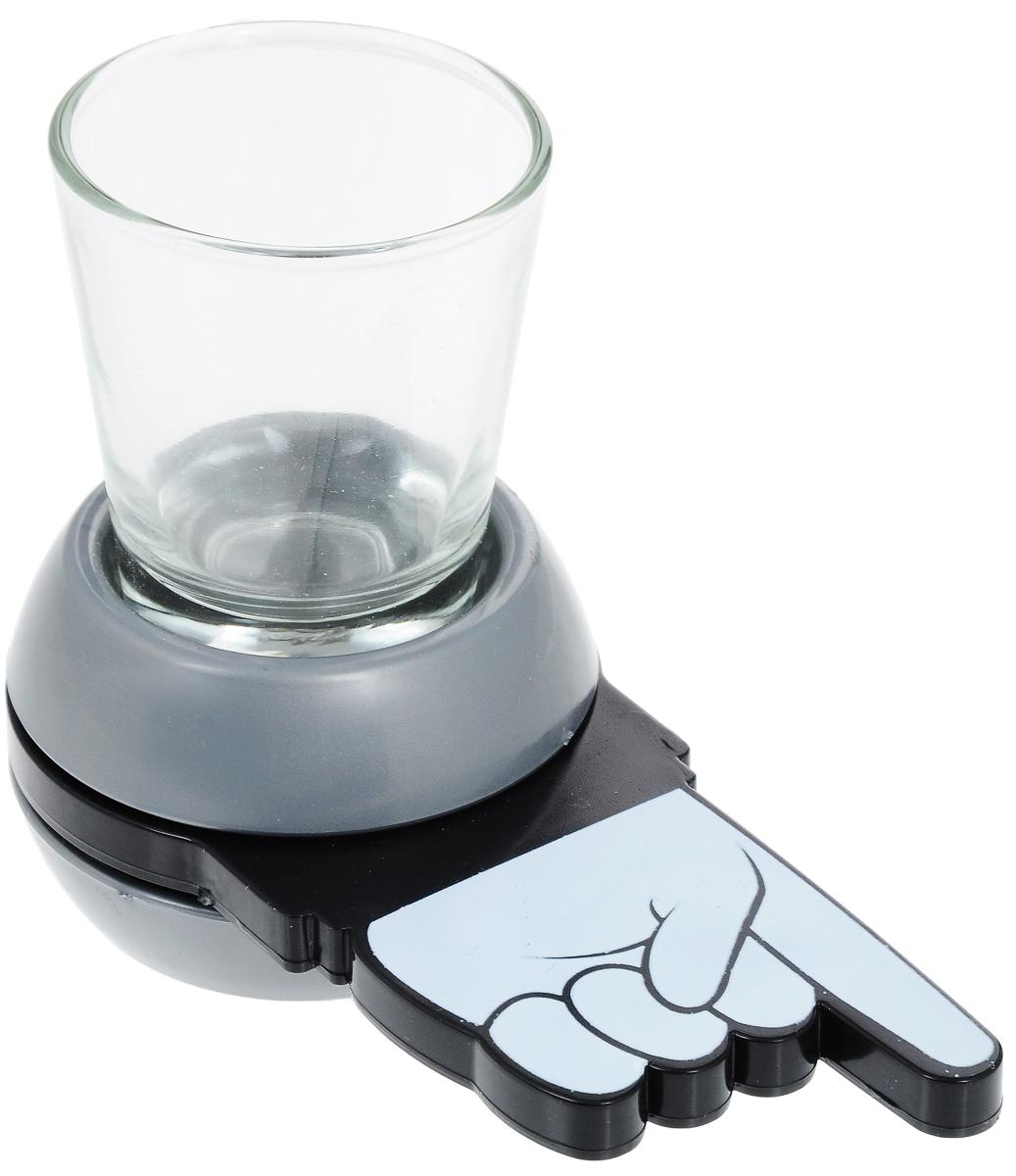 Настольная игра для взрослых Феникс-Презент Пьяный волчок40653Настольная игра для взрослых Феникс-Презент Пьяный волчок разнообразит вашу вечеринку, сделает ее веселой и оригинальной. Игра включает специальный волчок и стеклянную стопку. Веселая игра похожа на бутылочку. Налейте в стопку ваш любимый напиток, крутите стрелку, на кого укажет, тот и пьет. Единственное, что вам нужно в этой игре, ваш любимый напиток и веселые друзья. Размер волчка: 12,6 х 6 х 4 см. Диаметр стопки (по верхнему краю): 5 см. Высота стопки: 6 см.