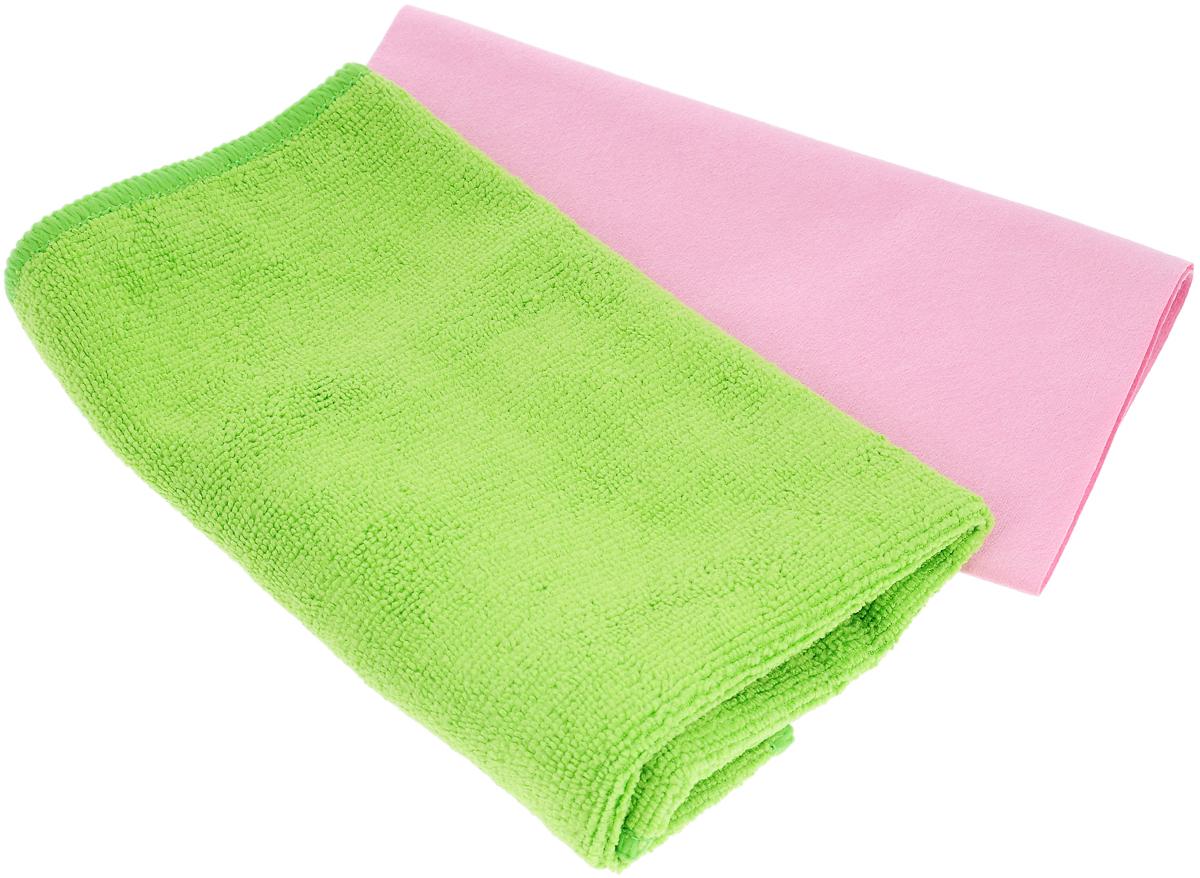 Набор салфеток для ухода за автомобилем Pingo, цвет: салатовый, розовый, 2 шт5844_салатовый, розовыйНабор для ухода за автомобилем Pingo состоит из 2 салфеток: из гладкой микрофибры и из махровой микрофибры. Салфетки идеальны для чистки лобового стекла, пластика и хрома, обивки сидений, кузова автомобиля. Подходят для влажной и сухой уборки. Могут быть использованы без химических средств, отлично впитывают воду, пыль и грязь. Размер салфеток: 40 х 36 см; 32 х 32 см.