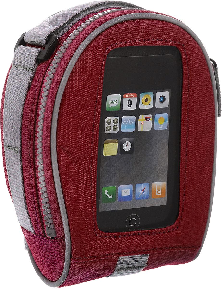Сумка на руль BiKase SALamander, с чехлом для смартфона, цвет: красный, серый, 17 х 13 х 7,5 смAG005Сумка BiKase SALamander выполнена из высококачественного прочного текстиля. Изделие крепится на любую часть рамы или вынос при помощи съемных крепежных ремней. Сумка оснащена одним вместительным отделением, закрывающимся на застежку-молнию. Спереди расположен карман-чехол для смартфона. Подходит для телефонов Samsung Galaxy3 и меньше.