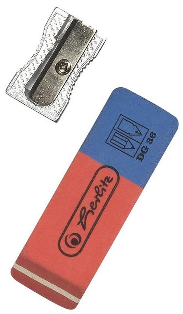 Herlitz Набор точилка и ластик8680704Точилка и ластик Herlitz - это незаменимые атрибуты для любого студента или школьника. Корпус точилки изготовлен из металла, а ластик - из качественной резины. Точилка предназначена для заточки карандашей диметром 8 мм. Такой набор от Herlitz станет для вас замечательным помощником в любом проектном или учебном деле.