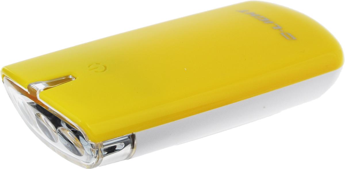 Фара велосипедная D-Light CG-120W, цвет: желтый, белыйCG-120W-YellowФара с тремя белыми светодиодами D-Light CG-120W предназначена для обеспечения большей безопасности при поездках в темное время суток. Легко снимается и помещается в кармане. Фара крепится без дополнительных инструментов. Корпус изделия выполнен из прочного пластика, водонепроницаем. Фара имеет 3 режима: мигание, ближний свет, дальний свет. Фонарь питается от 2 батарей типа АА (входят в комплект). Время свечения в режиме дальнего света: 30+ ч. Время свечения в режиме ближнего света: 60+ ч. Время мигания: 120+ ч. Размер фары (без учета крепления): 8,8 х 3,6 х 1,8 см.