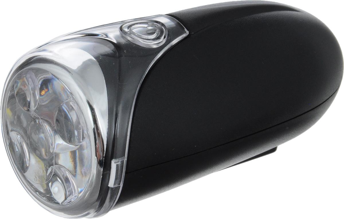 Фара велосипедная D-Light CG-115W1, цвет: черный, стальнойCG-115W1-BlackФара с пятью белыми светодиодами D-Light CG-115W1 предназначена для обеспечения большей безопасности при поездках в темное время суток. Легко снимается и помещается в кармане. Фара крепится без дополнительных инструментов. Корпус изделия выполнен из прочного пластика, водонепроницаем. Фара имеет 2 режима: мигание, постоянное свечение. Фонарь питается от 3 батарей типа ААА (входят в комплект). Время свечения: 50 ч. Время мигания: 90 ч. Размер фары (без учета крепления): 7,5 х 3,5 х 3,5 см.