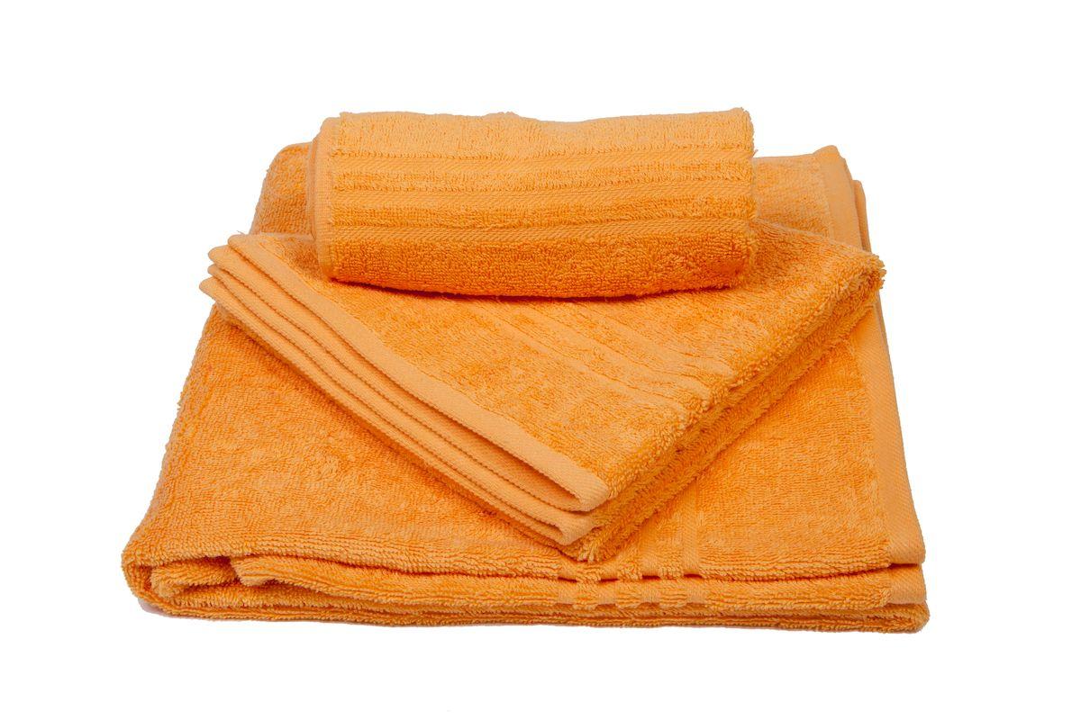 Набор махровых полотенец Arloni Marvel, цвет: оранжевый, 3 шт44031.6Набор Arloni Marvel состоит из трех полотенец разных размеров. Полотенца, выполненные из натурального хлопка, подарят вам мягкость и необыкновенный комфорт в использовании. Ткань не вызывает аллергических реакций, обладает высокой гигроскопичностью и воздухопроницаемостью. Полотенца великолепно впитывают влагу, нежные на ощупь не теряют своих свойств после многократной стирки.