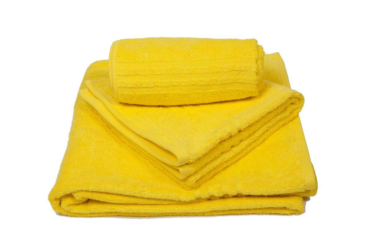 Набор махровых полотенец Arloni Marvel, цвет: желтый, 3 шт44036.6Набор Arloni Marvel состоит из трех полотенец разных размеров. Полотенца, выполненные из натурального хлопка, подарят вам мягкость и необыкновенный комфорт в использовании. Ткань не вызывает аллергических реакций, обладает высокой гигроскопичностью и воздухопроницаемостью. Полотенца великолепно впитывают влагу, нежные на ощупь не теряют своих свойств после многократной стирки.